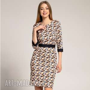Sukienka Carla Watercoor, ołówkowa-sukienka, dopasowana-sukienka, sukienki-do-pracy