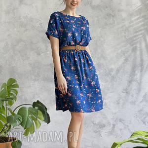 sukienki sukienka niebieska w kwiatki