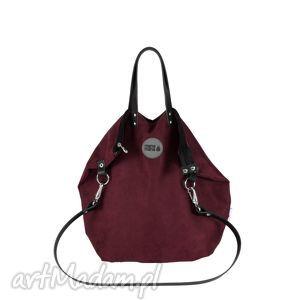 plecak torba 2 in 1 bakłażan, plecak, torba, prezent, handamde, manamana torebki