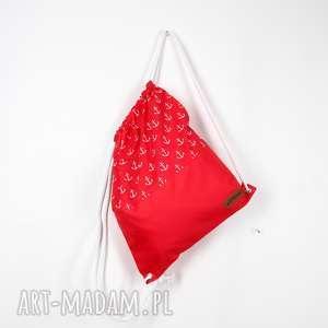 hand-made worek marynarski w kotwice
