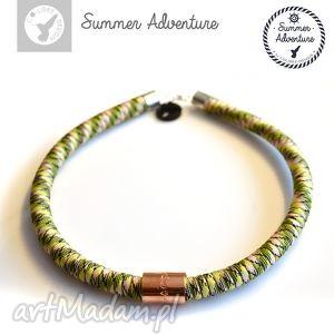 naszyjnik summer adventure - model green snake - nowoczesny, wężowy, designerski