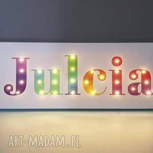 handmade pokoik dziecka napis led twoje imię prezent obraz tęczowy lampa perosnalizowany
