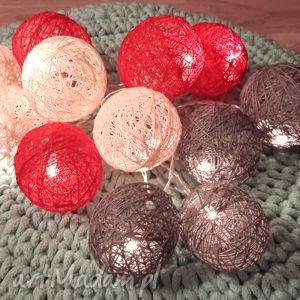 cotton balls 12 szt led, cotton, balls, girlanda, lampki, wyjątkowy prezent