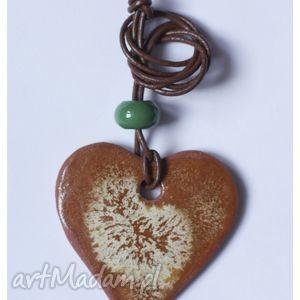 Wisior ceramiczny piernikowe serce wisiorki wylegarnia pomyslow