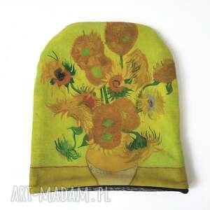 handmade czapki czapka słoneczniki