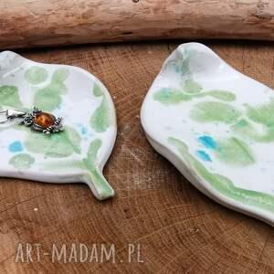 shiraja komplet 2 ceramicznych listków c304, liście, na biżuterię, ceramika
