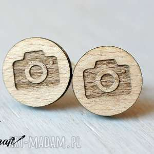 Drewniane spinki do mankietów APARAT, spinki, bukowe, drewniane, mankiety, aparat