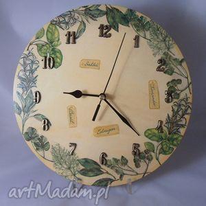 Zegar ziołowy dla pani marii zegary margeritka zegar, kuchnia