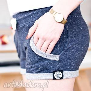 wyszczuplające kobiece spodenki spodnie krótkie bawełniane dżinsowe melanżowe xs