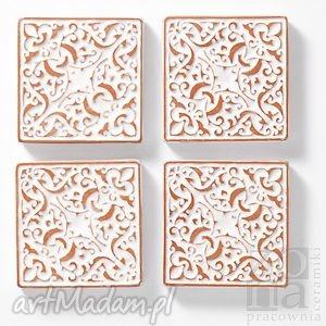 kafle małe, białe II, kafle, płytki, dekory, ścienne, ornamentowe, orientalne