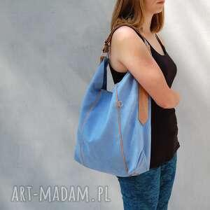 na ramię furia - torba worek niebieska, worek, wygodna, swobodna, prezent