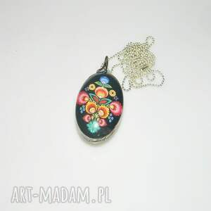 folk , wisior, folk, unikatowa-biżuteria, unikalny-wisior, kolorowy, szklany-wisior