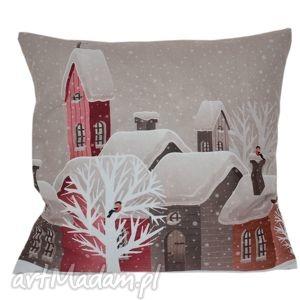 prezent na święta, poduszki poduszka dekoracyjna miasto, dekoracyjna, świąteczna