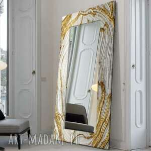 dom mirror glam - duża artystyczna ręcznie wykończona rama do lustra