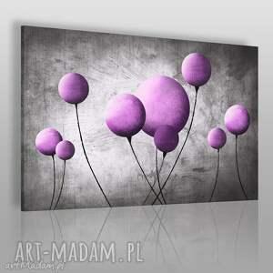 obraz na płótnie - balon balonik fioletowy 120x80 cm 69203, balon
