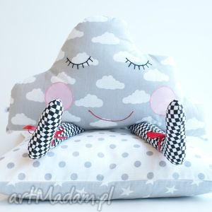 handmade pokoik dziecka poduszka przytulanka - senna chmurka