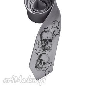 Prezent Krawat Czachy, krawat, czachy, czaszki, nadruk, prezent