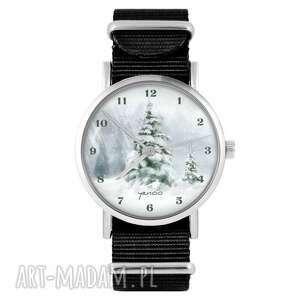 zegarek - zimowy, choinka czarny, nylonowy, zegarek, nylonowy pasek, typ
