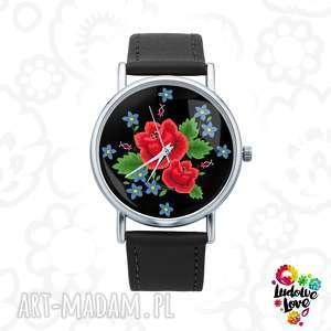 Zegarek z grafiką RÓŻE, polskie, wzory, ludowe, folk, folklor, modne