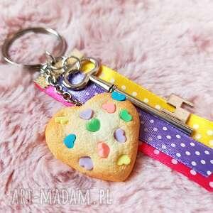 ciasteczko serce do kluczy, serce, brelok ciastko, słodki
