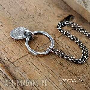 cocopunk naszyjnik z zawieszką srebro 925- nowoczesny - srebro naszyjnik