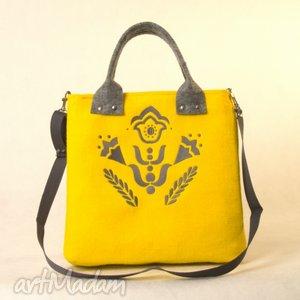 ręcznie zrobione torebki yellow flow