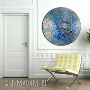 Krajobraz księżycowy 17 alexandra13 okrągły obraz, niebo