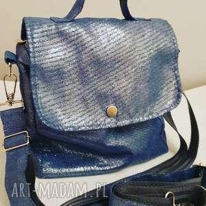 plecak/torebka 2w1 niebieski szron, plecak 2w1, tasiemasie