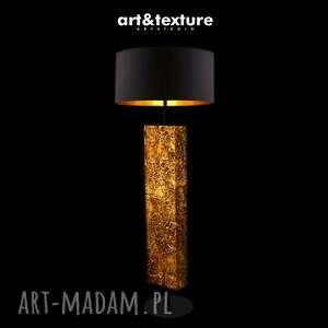 miedziane art deco - modna lampa podłogowa w stylu eklektycznym, do salonu