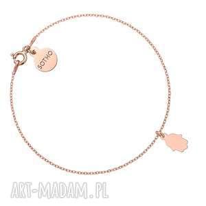 bransoletka z różowego złota z ręką fatimy sotho