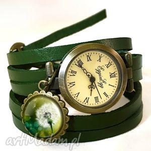 dmuchawiec - zegarek bransoletka na skórzanym pasku egginegg - skórzana