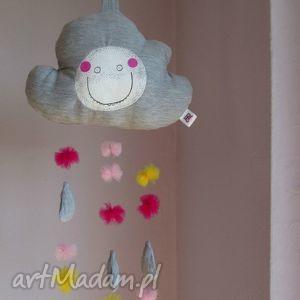 """ręcznie zrobione pokoik dziecka chmurka z serii """"fluffy""""- mobil zawieszka"""
