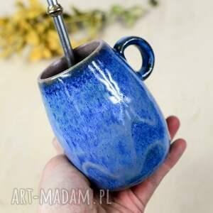 duże ceramiczne naczynie/kubek do yerba mate / matero z uchem