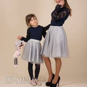 Komplet spódniczek tiulowych z perełkami violetta spódnice