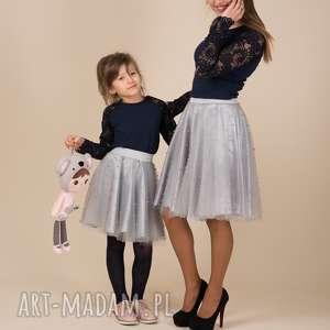 hand made spódnice komplet spódniczek tiulowych z perełkami violetta