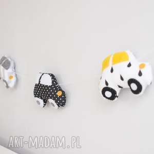 Girlanda autka, dekoracje, girlanda, chłopiec, zawieszka, autko