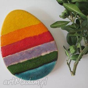 prezent na święta, magnes jajko ceramiczne, ozdoby, wielkanocne, jajko, pisanka