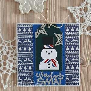 wyjątkowy prezent, kartka z bałwankiem 3, bałwan, życzenia, święta