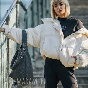 torba worek z plecionki tapicerskiej, worek, elegancka torba, duża