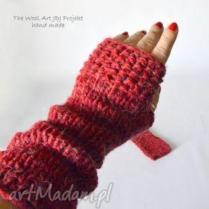rękawiczki mitenki - rękawiczki, mitenki, wełna, dłonie