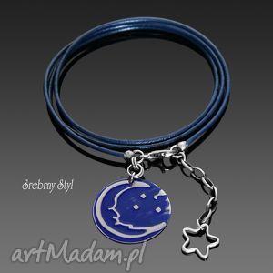 oryginalny prezent, srebrny styl blue moon, srebro, księżyc, gwiazdka, noc