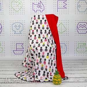 dla dziecka kocyk 75x100 anansy, kocyk, kołderka, łóżeczko, niemowląt, ananasy