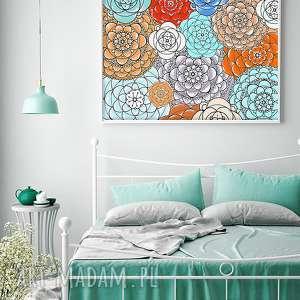 kwiaty a2, kwiaty, łąka, plakat, ilustracja, sztuka, obraz