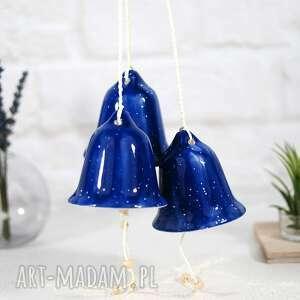 ceramiczny dzwonek świąteczny - niebo, ozdoby świąteczne