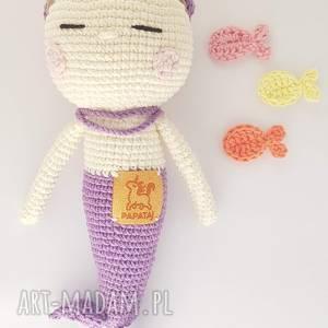 handmade lalki syrenka przytulaśna szydełkowa