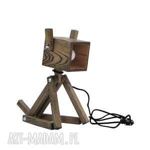 Lampka Puppy Black 001, lampkapies, drewno, dziecko, pokoik, dom, biurowa