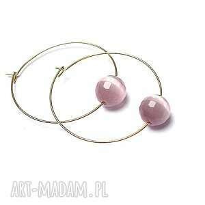 alloys collection /one stone/ kocie oko pink