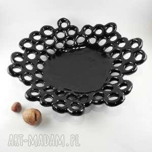 patera ceramiczna z serii ażurowej, dom, ceramika, patera, prezent, dekoracja, misa