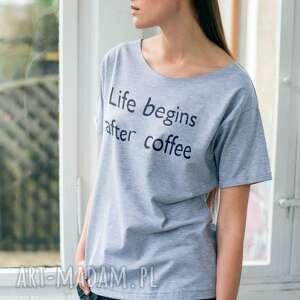koszulki coffee t-shirt oversize, wygoda, tshirt, bawełna, fashion, casual