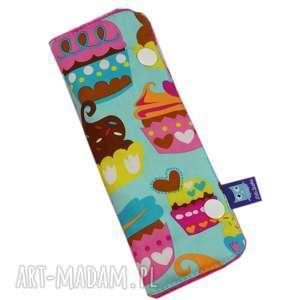 dla dziecka ochraniacz na pas, wzór muffiny, ochraniacz, dziecko, dziecka, prezent